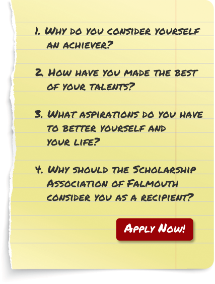 Scholarship Association Falmouth Essay Questions